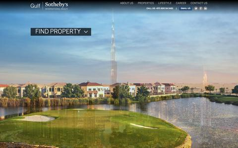 Screenshot of Home Page gulfsir.com - Gulfsir | Sotheby's International Realty - captured Sept. 1, 2015