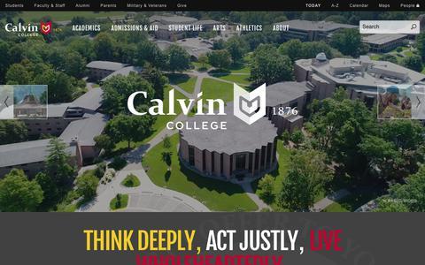 Screenshot of Home Page calvin.edu - Calvin College | Grand Rapids, Michigan - captured Oct. 21, 2017