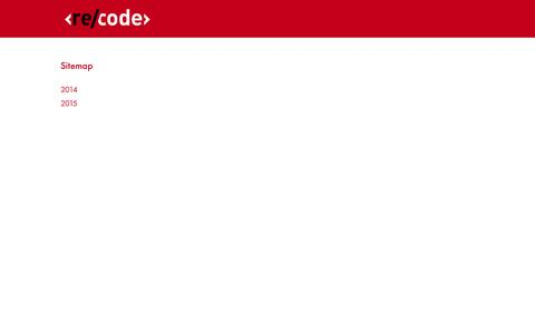 Screenshot of Site Map Page recode.net - Sitemap   Re/code - captured Nov. 18, 2015