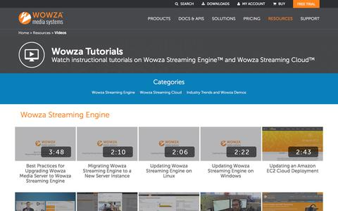 Videos of Industry Trends and Demos in Audio/Video Streaming  | Wowza