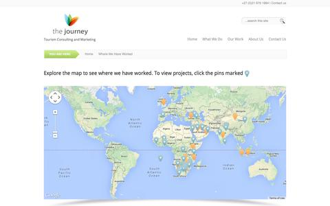 Screenshot of Maps & Directions Page thejourneytourism.com - Where We Have Worked | The Journey - captured Oct. 8, 2014