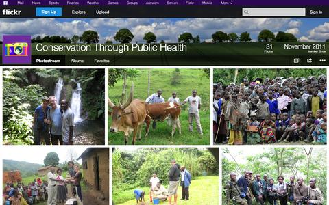 Screenshot of Flickr Page flickr.com - Flickr: Conservation Through Public Health's Photostream - captured Oct. 22, 2014