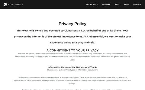 Privacy Policy - Clubessential.com 2015