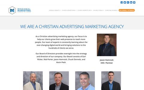 Screenshot of About Page missionalmarketing.com - Christian Advertising Marketing Agency | Missional Marketing - captured Oct. 18, 2018