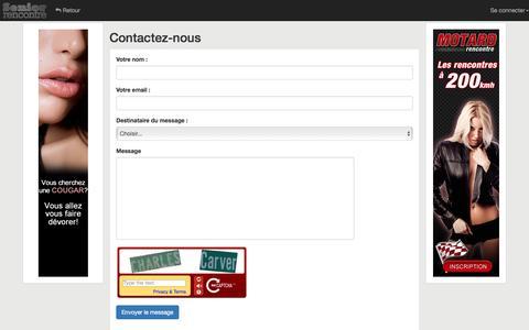 Screenshot of Contact Page senior-rencontre.com - Senior Rencontre - captured March 3, 2016