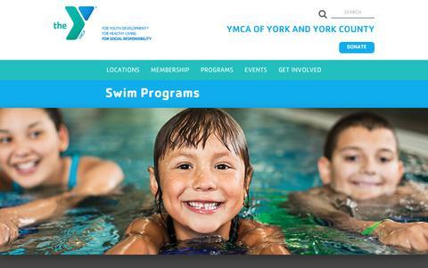 Screenshot of Signup Page yorkcoymca.org - Swimming Programs   YMCA York County - captured Oct. 1, 2018