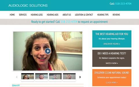 Screenshot of Testimonials Page audiologicsolutions.org - Testimonials - Audiologic Solutions - captured Dec. 27, 2015