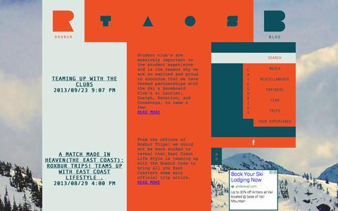 Screenshot of Blog roxbur.com - ROXBUR   BLOG - captured Oct. 6, 2014