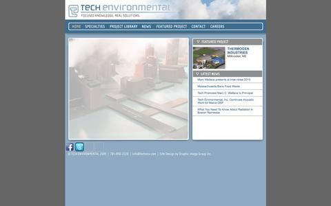 Screenshot of Home Page techenv.com - Tech Environmental - captured Feb. 14, 2016