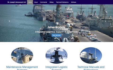 Screenshot of Home Page isherwoods.com - Isherwoods Integrated Logistic Support - captured Feb. 4, 2016