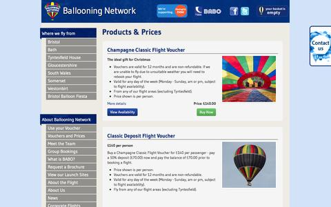 Screenshot of Products Page ballooning-network.co.uk - Ballooning Network - captured Nov. 3, 2014