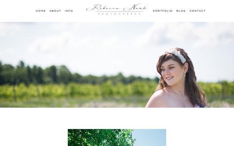 Screenshot of Testimonials Page rebeccanashphotography.com - Testimonials - Rebecca Nash Photography - captured June 16, 2017