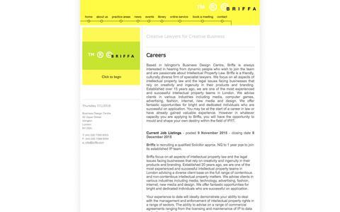 Screenshot of Jobs Page briffa.com - Briffa ª ¨ © | Contact - captured Jan. 7, 2016