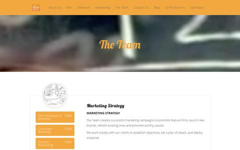 Screenshot of Team Page simplesyrup.tv - Experts in Marketing Strategy, Writing, Video Production, Design & Animation, Editorial & Audio - captured Jan. 12, 2016