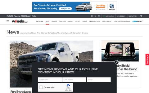 Screenshot of Press Page wheels.ca - Canadian Automotive News, Trends & Views from WHEELS.ca - captured Sept. 22, 2018