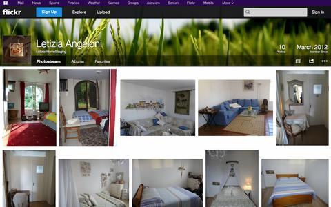 Screenshot of Flickr Page flickr.com - Flickr: Letizia-HomeStaging's Photostream - captured Oct. 22, 2014