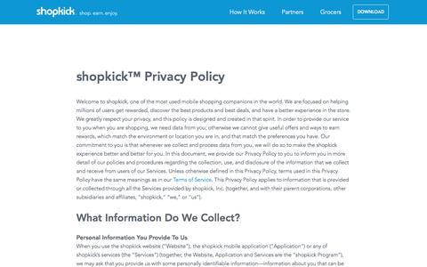 Privacy Policy | shopkick