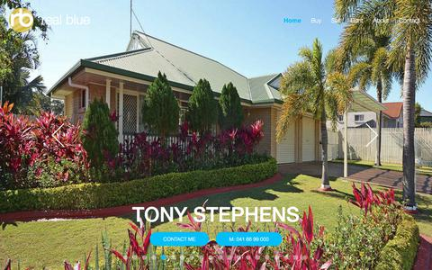 Screenshot of Home Page realbluerealestate.com.au - Real Blue Real Estate - Home - captured Sept. 20, 2018