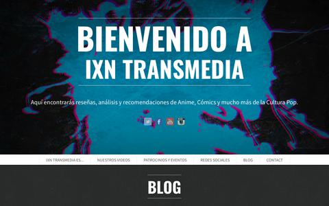 Screenshot of Blog ixntransmedia.com - Blog | IXN transmedia - captured Nov. 12, 2017