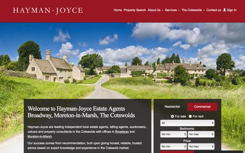 Screenshot of Home Page haymanjoyce.co.uk - Hayman - Joyce | Estate Agents | Moreton-in-Marsh | Broadway | Property for Sale and Rent - captured Dec. 8, 2015