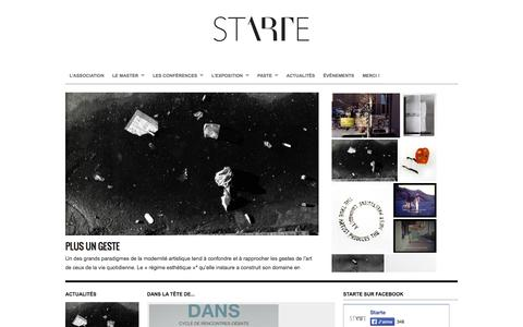 Screenshot of Home Page starte-asso.org - STartE - Le site du Master 2 - Sciences et Techniques de l'Exposition Paris 1 Panthéon - Sorbonne : STartE - captured Oct. 3, 2014