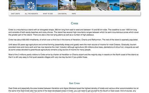 Screenshot of Home Page east-crete.com - A short guide to East Crete - captured Feb. 21, 2018