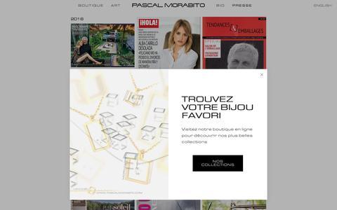 Screenshot of Press Page pascalmorabito.com - PASCAL MORABITO — PRESSE - captured July 16, 2018