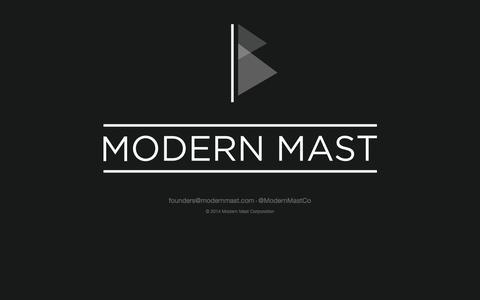 Screenshot of Home Page modernmast.com - Modern Mast - captured Sept. 16, 2014
