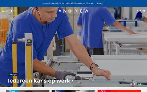Screenshot of Home Page vno-ncw.nl - Home   VNO-NCW - captured Feb. 14, 2016