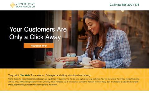 Screenshot of Landing Page usanfranonline.com - Internet Marketing   University of San Francisco   Online - captured Dec. 18, 2015