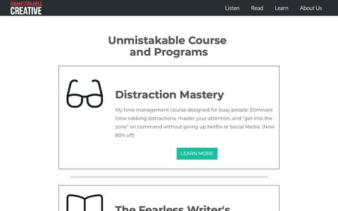 Screenshot of Products Page unmistakablecreative.com - Products - Unmistakable Creative - captured June 20, 2019