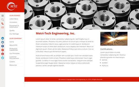 Screenshot of Case Studies Page metri-tech.com - Case Studies - Metri-Tech Engineering, Inc. - captured Oct. 18, 2018