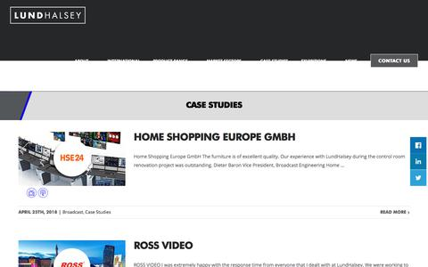 Screenshot of Case Studies Page lundhalsey.com - Case Studies | LundHalsey - captured July 24, 2018