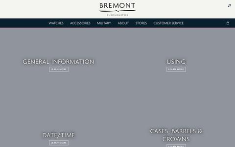 Screenshot of FAQ Page bremont.com - Frequently Asked Questions — Bremont Watches UK - captured Sept. 24, 2018