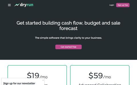 Screenshot of Pricing Page dryrun.com - Pricing - Dryrun - captured April 2, 2017