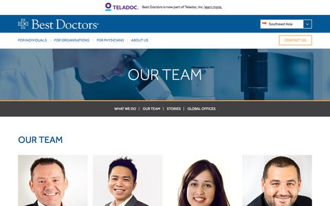 Screenshot of Team Page bestdoctors.com - OUR TEAM - Best Doctors Southeast Asia | Best Doctors Southeast Asia - captured July 6, 2018