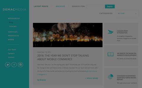 Screenshot of Blog demacmedia.com - Ecommerce Blog, Education & Tutorials by Demac Media - captured Jan. 25, 2016