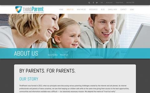 Screenshot of About Page thirdparent.com - The ThirdParent Story | About ThirdParent | ThirdParent - captured Jan. 12, 2016