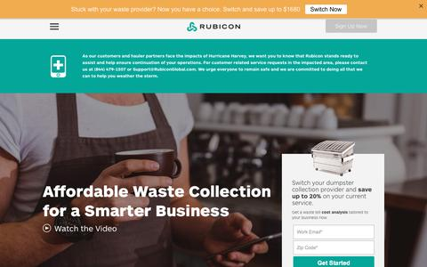 Commercial Garbage & Waste Management Company | Rubicon Global