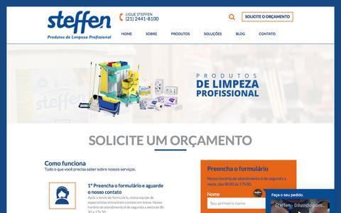 Screenshot of Home Page steffen.com.br - Steffen – Muito mais que limpeza – Conheça nossos produtos! - captured May 22, 2018