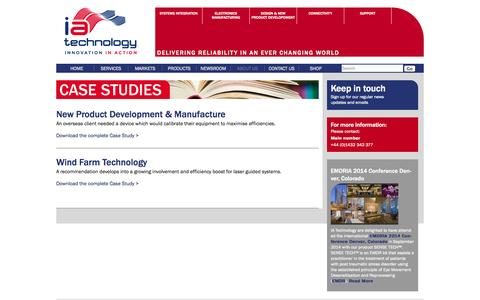 Screenshot of Case Studies Page iatechnology.co.uk - Case studies | I A Technology - captured Oct. 3, 2014
