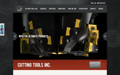 Screenshot of Home Page cuttingtoolsinc.net - ✹ Cutting Tools Inc. | Cutting Tools Inc - captured Dec. 14, 2015
