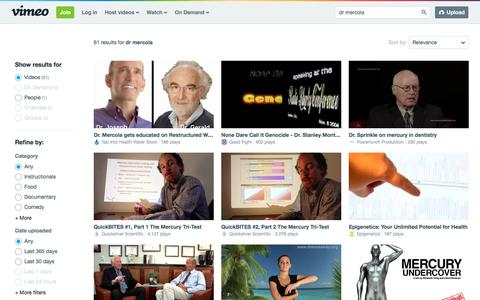 dr mercola in videos on Vimeo