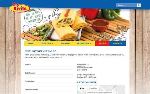 Screenshot of Contact Page kivitsbv.nl - Contact – Kivits B.V. - captured Nov. 6, 2018