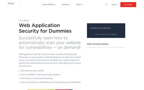 Web Application Security for Dummies | Free eBook | Qualys, Inc.