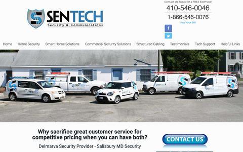 Screenshot of Home Page sentechsc.com - Sentech Security – Security Alarm Systems, Camera Surveillance and Phone Systems - captured Oct. 20, 2018