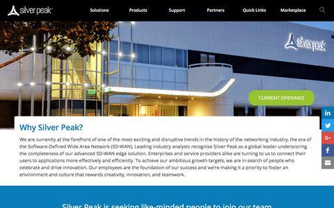 Silver Peak Careers | Silver Peak