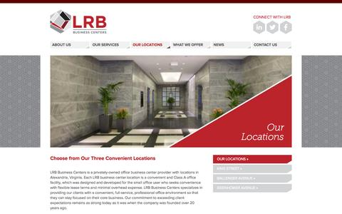 Screenshot of Locations Page lrbbc.com - Our Locations | LRB Business Centers, Inc. - captured Oct. 1, 2014