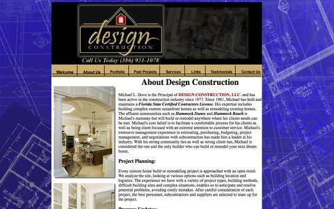 Screenshot of About Page designconstructionfla.com - Design Construction - About Us - captured Oct. 5, 2014