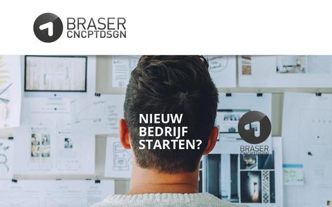 Screenshot of Home Page braser.nl - Braser Concept Design – Design & Marketing - captured Oct. 11, 2017